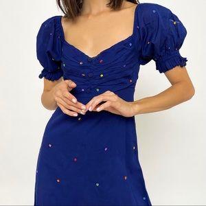 FARM Rio Embroidered Mini Dress